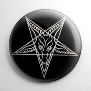 Baphomet Pentagram Button