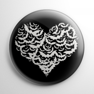 Bat Heart Button