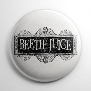 Beetlejuice Title White Button
