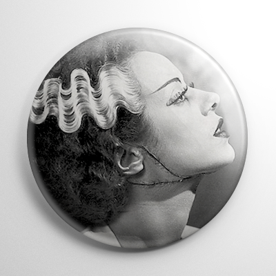Bride of Frankenstein (A) B&W Button