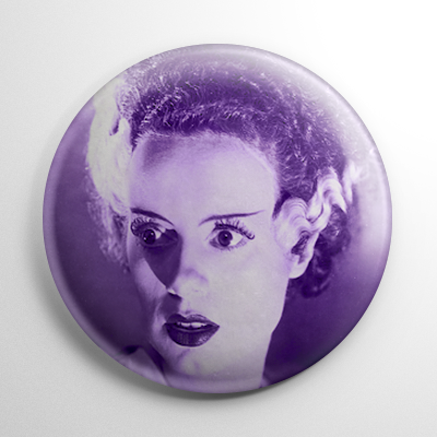 Bride of Frankenstein (B) Button