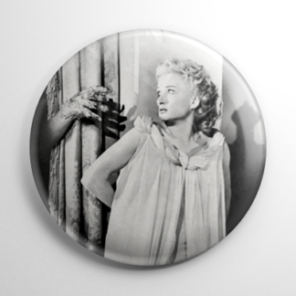 Carol Ohmart House on Haunted Hill B&W Button