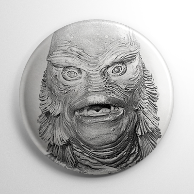 Creature from the Black Lagoon B&W Button