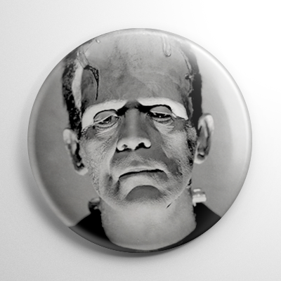 Frankenstein B&W Button