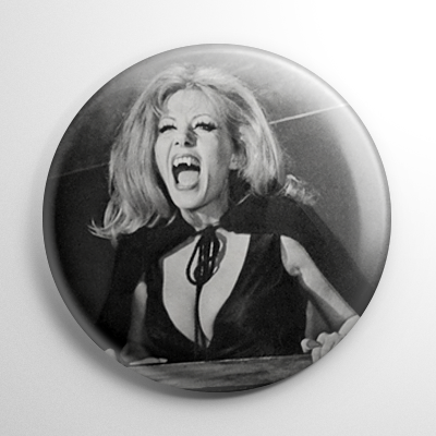 Ingrid Pitt Countess Dracula B&W (A) Button