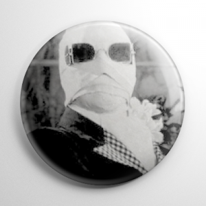 The Invisible Man B&W Button