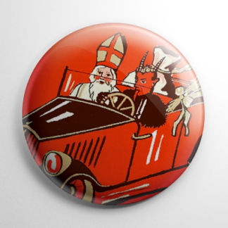Krampus Cruising Button