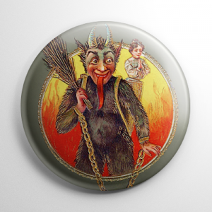Krampus Girl with Girl Praying Button