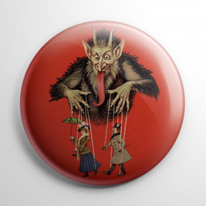 Krampus Puppets Button