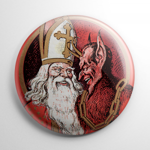 Krampus & St. Nick Button
