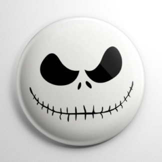 Nightmare Before Christmas - Jack Skellington Face Button