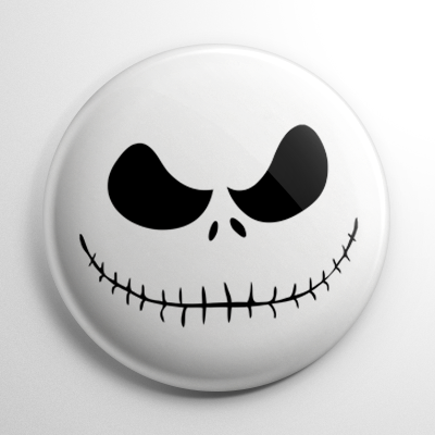 Nightmare Before Christmas – Jack Skellington Face Button