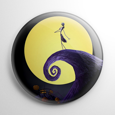 Nightmare Before Christmas - Jack Skellington on Spiral Hill Button