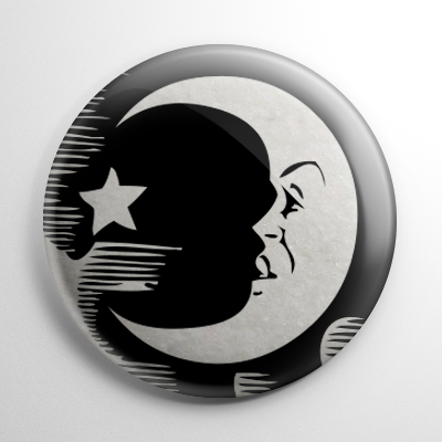 Ouija Board Moon B&W Button