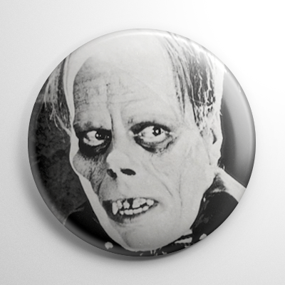 Phantom of the Opera B&W Button