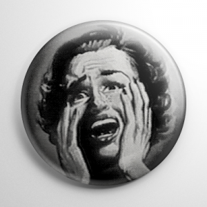 Screaming Woman Button