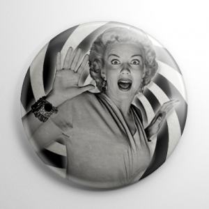 It Came from Outer Space Screaming Woman (B) Button