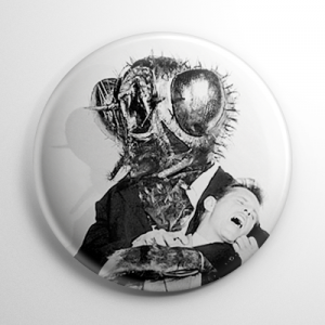 The Fly B&W Button