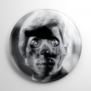 They Live Alien B&W Button