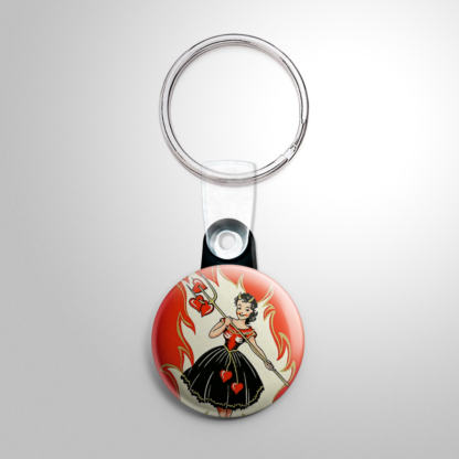 Christmas - Krampus Girl with Hearts Keychain