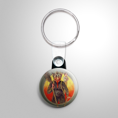 Christmas - Krampus Girl with Girl Praying Keychain