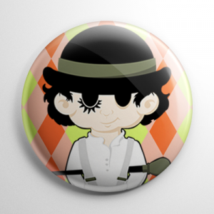 Spooky Scamps - A is for Alex Clockwork Orange Button