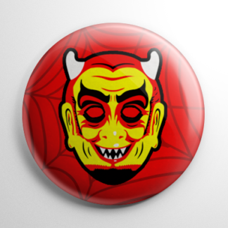 Vintage Ben Cooper Devil Mask Button