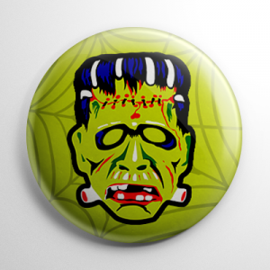 Vintage Ben Cooper Frankenstein Mask Button