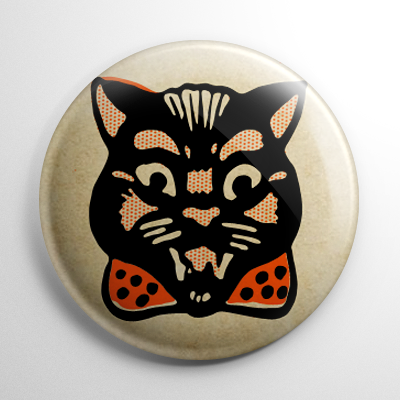 Vintage Halloween - Cat Button