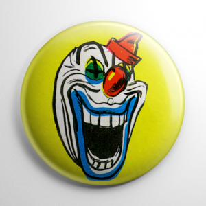 Vintage Halloween Mask Clown (A) Button