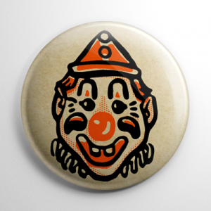 Vintage Halloween - Clown Button