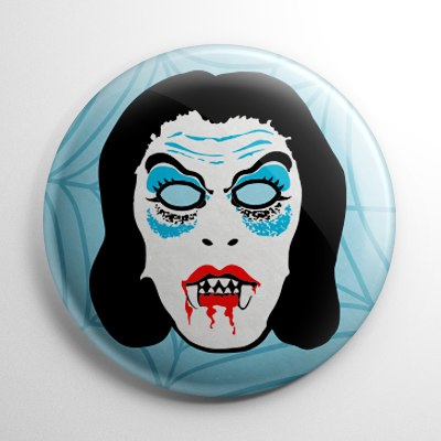 Vintage Collegeville Vampire Mask Button