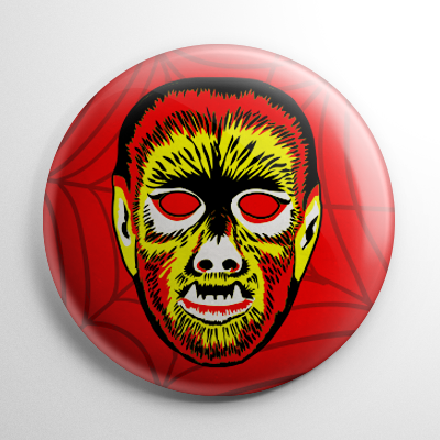 Vintage Collegeville Wolfman Mask Button