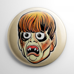 Vintage Halloween Mask Creep Beat Button
