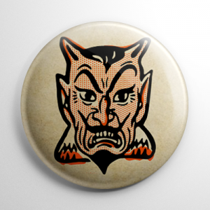 Vintage Halloween - Devil Button