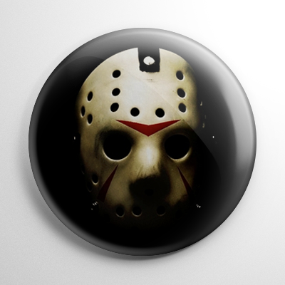 Friday the 13th Jason Vorhees Mask Button