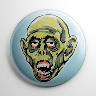 Vintage Halloween Mask Ghoul Color Button