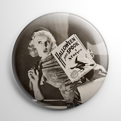 Halloween Pin Up – Betty Grable Button