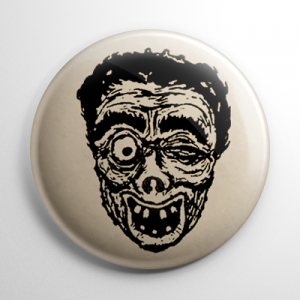 Vintage Halloween Mask Igor Button