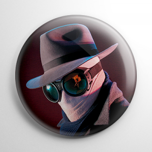 The Invisible Man (B) Button