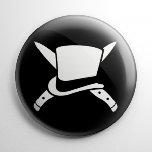 Jack the Ripper Crossbones Button