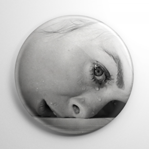 Scream Queen - Janet Leigh Psycho B&W Button