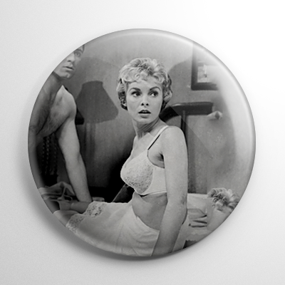 Scream Queen - Janet Leigh Psycho (C) B&W Button