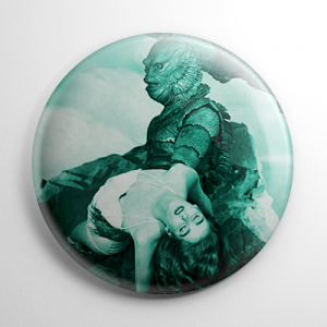 Scream Queen - Julie Adams Creature from the Black Lagoon Button