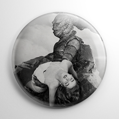 Scream Queen - Julie Adams Creature from the Black Lagoon B&W Button