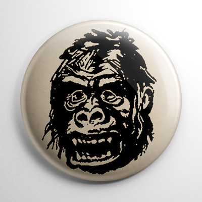 Vintage Halloween Mask King Kong Button