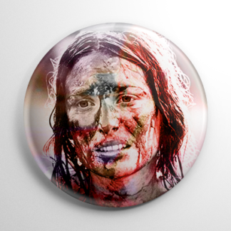 Scream Queen - Marilyn Burns Texas Chainsaw Massacre Button
