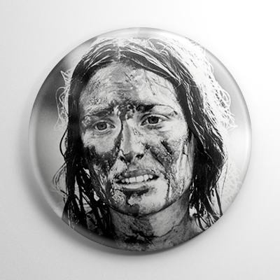 Scream Queen - Marilyn Burns Texas Chainsaw Massacre B&W Button