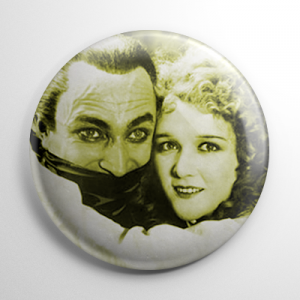 Scream Queen - Mary Philbin Man Who Laughs (B) Button