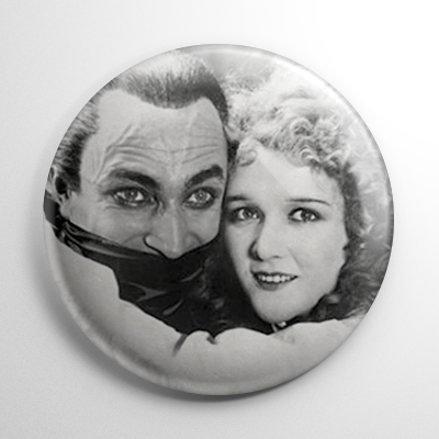 Scream Queen - Mary Philbin Man Who Laughs (B) B&W Button
